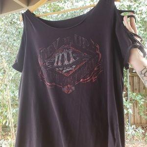 Texas women 1x harley davidson tee shirt